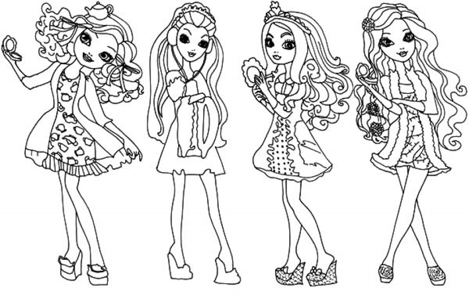 Get This Free Ever After High Coloring Pages 33958