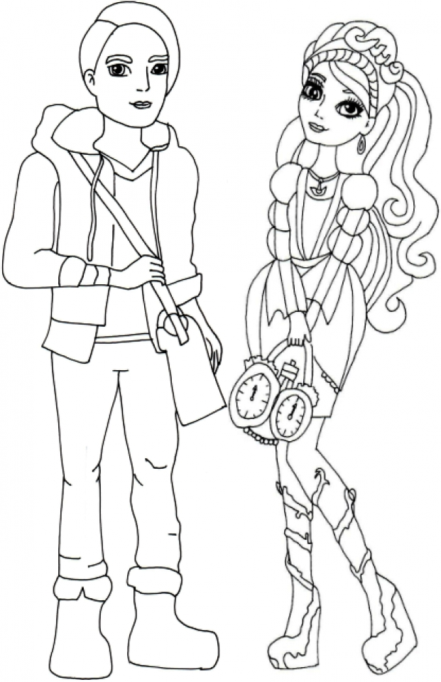 Get This Free Ever After High Coloring Pages To Print 62617