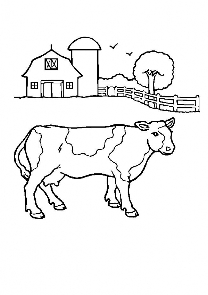 Free Farm Coloring Pages To Print 9UWMI