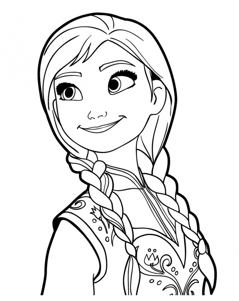 Get This Free Frozen Coloring Pages 5721