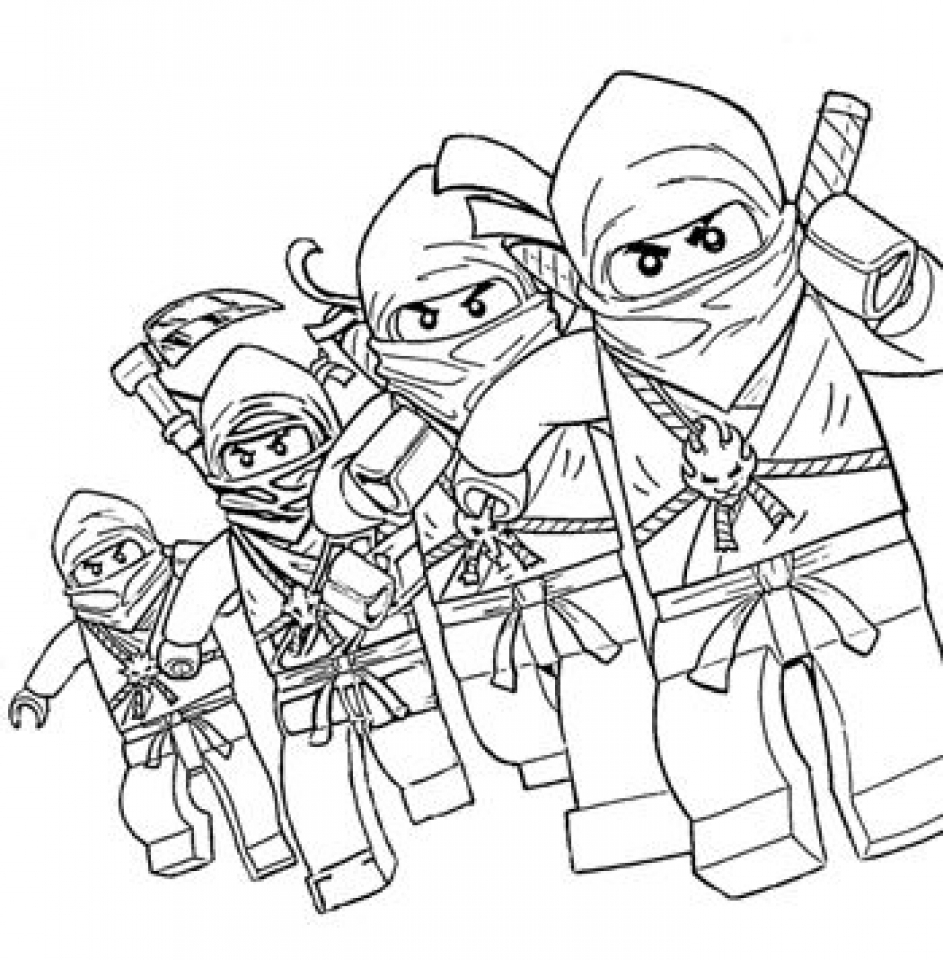 Coloring pages power rangers printable - Free Lego Ninjago Coloring Pages To Print 457034