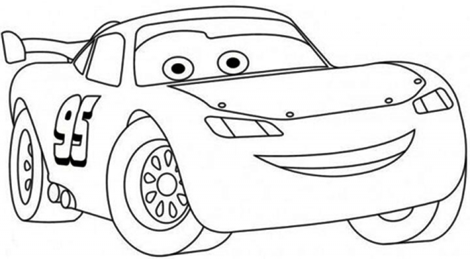 Images Of Lightning Mcqueen Coloring Pages