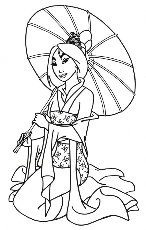 Get This Free Mulan Coloring Pages To Print Rk86j