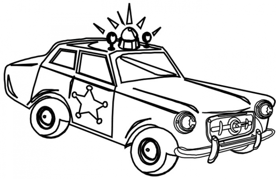 Get this free police car coloring pages to print 33958 for Free car coloring pages to print