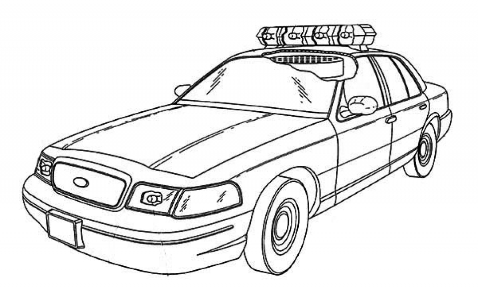Crown vic coloring pages murderthestout for Police car coloring pages to print
