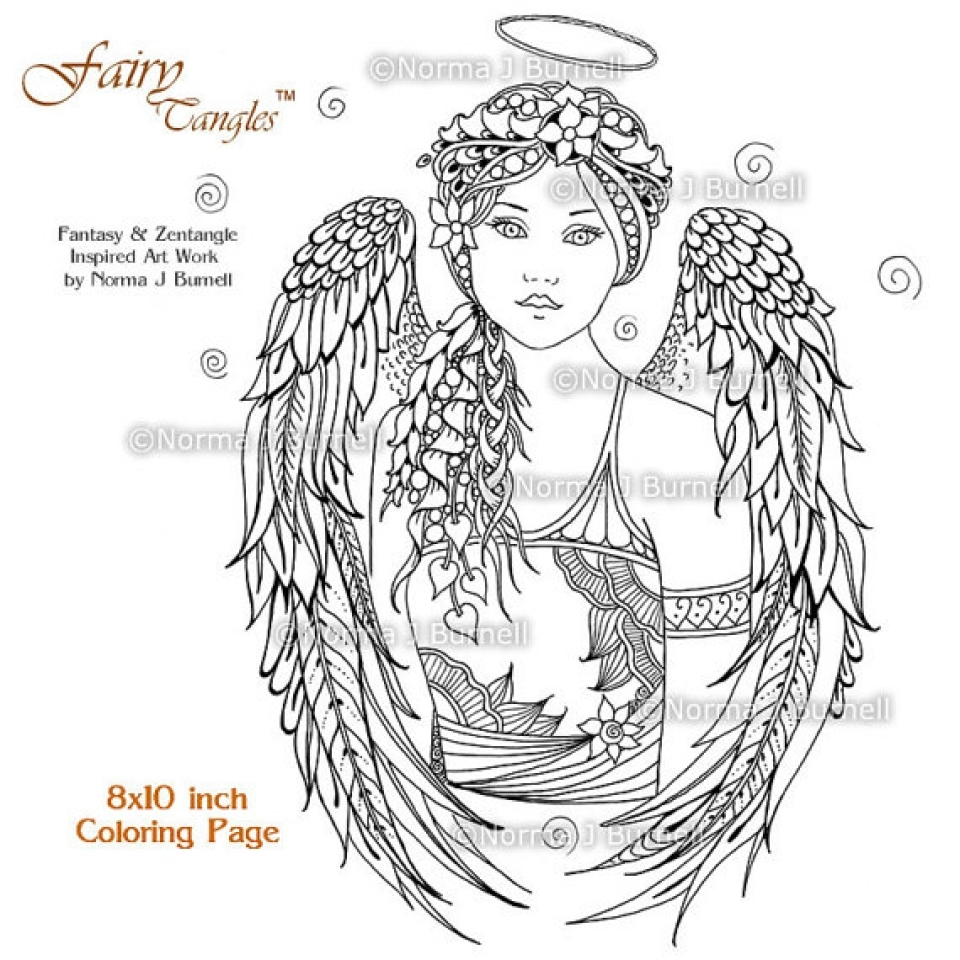 get this free printable angel coloring pages for adults