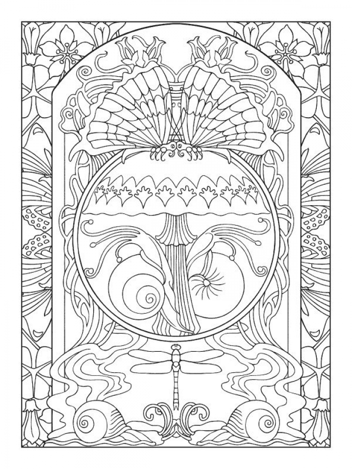 Get This Free Printable Art Deco Patterns Coloring Pages