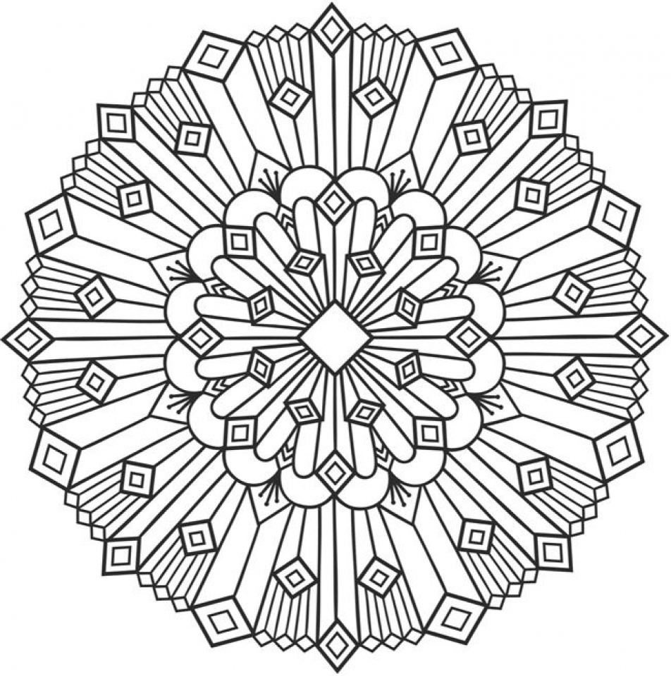 Get This Free Printable Art Deco Patterns Coloring Pages for Grown