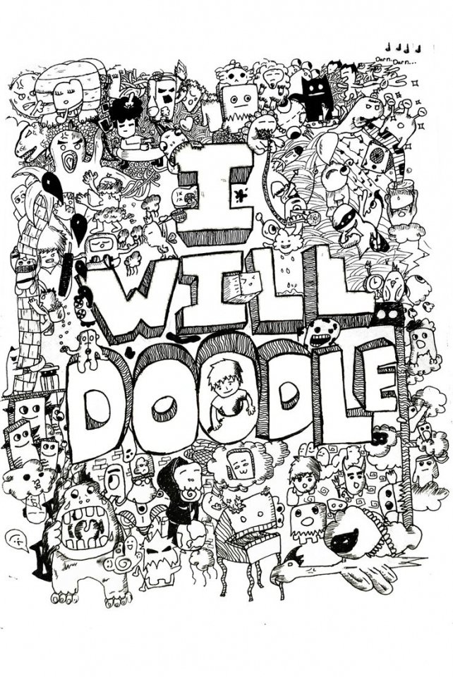 Get This Free Printable Doodle Art Advanced Coloring Pages 60cf5 !