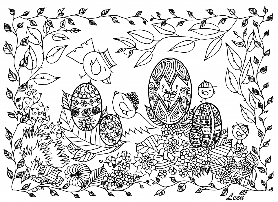 Get This Free Printable Doodle Art Advanced Coloring Pages ...