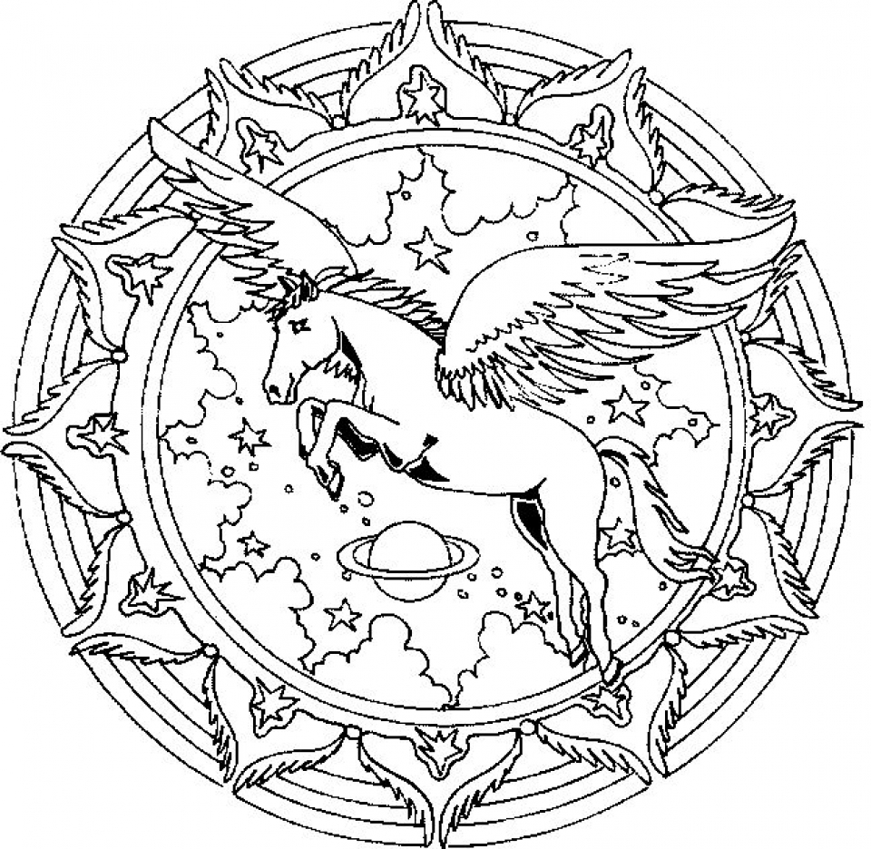 Unicorn Coloring Page Get This Free Printable Unicorn Coloring Pages For Adults Vt739