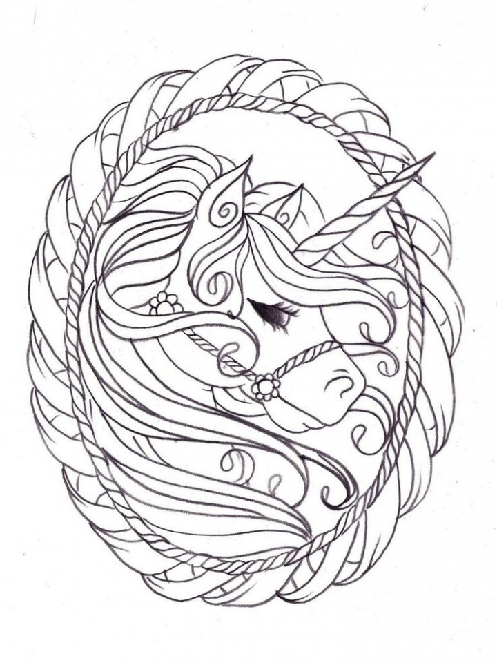 free printable unicorn coloring pages for adults xc493