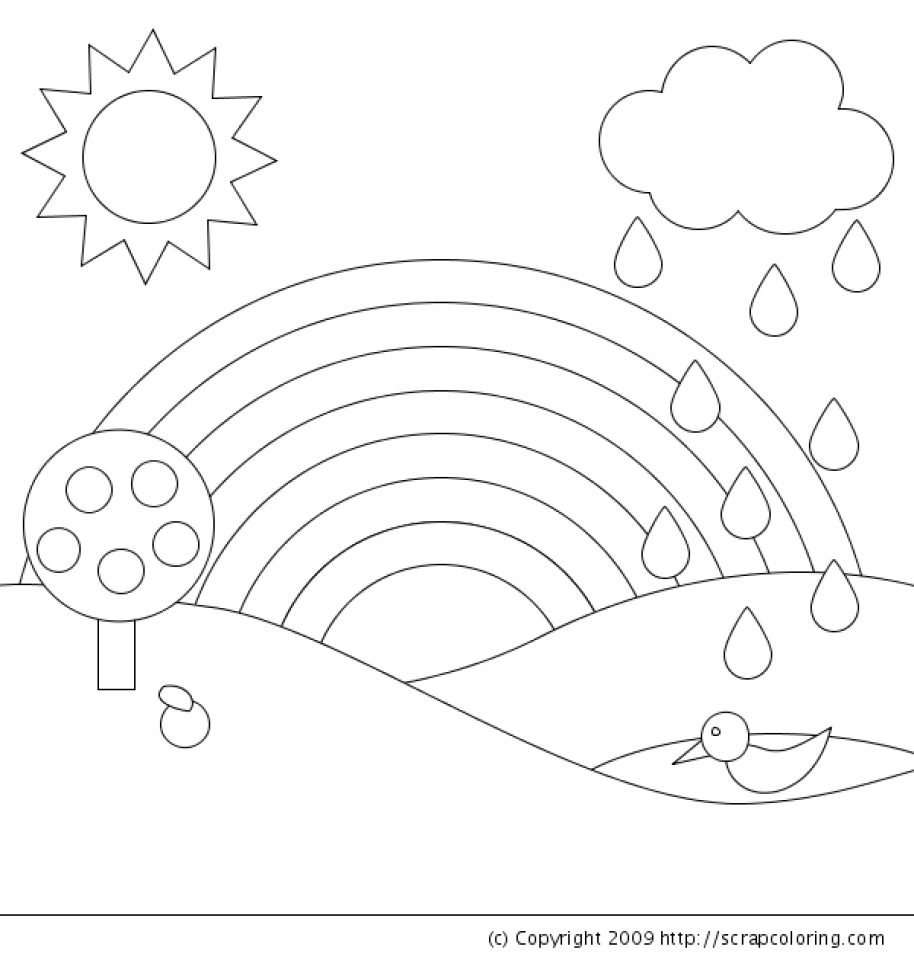 Get This Free Rainbow Coloring