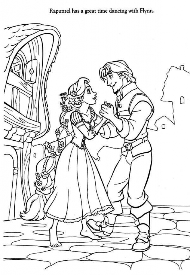 Amazing Free Rapunzel Coloring Pages To Print Disney