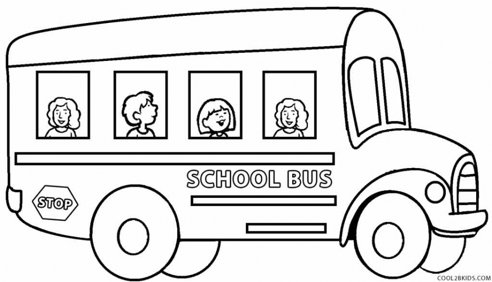 Get This Free School Bus Coloring Pages 2srxq