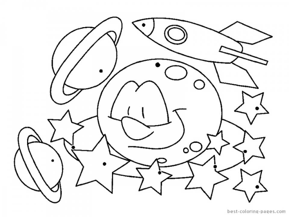 Get This Free Space Coloring Pages To Print Rk86j