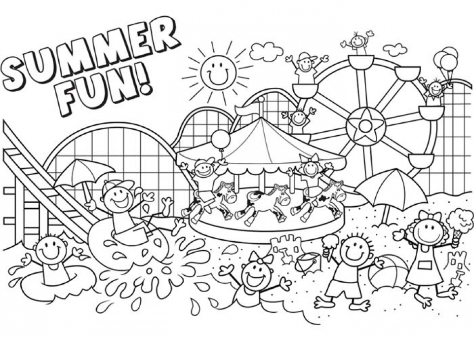 90 Coloring Pages Free Summer
