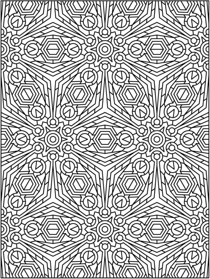 Get This Free Tessellation Coloring Pages For Adults 8CV32