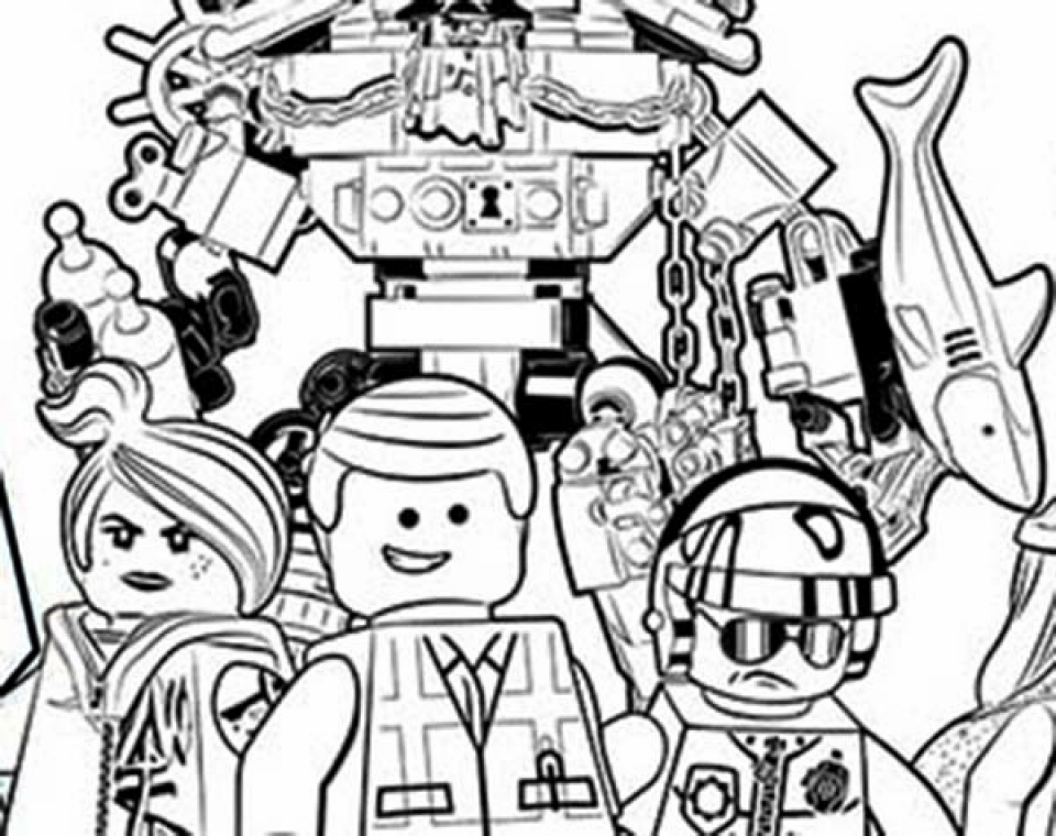 Free The Lego Movie Coloring Pages To Print 924305
