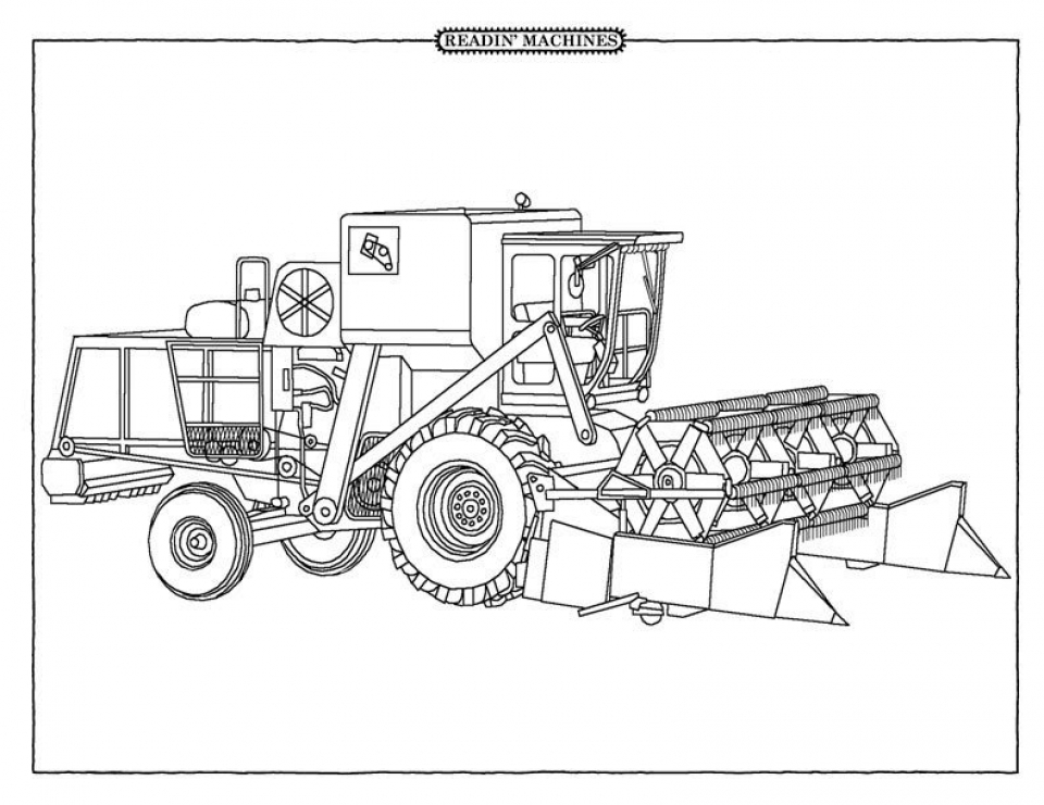 Get this free tractor coloring pages to print 62617 for Tractor coloring pages to print