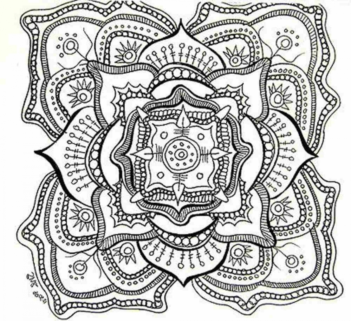 Get This Free Trippy Coloring Pages to Print for Adults GH6S4