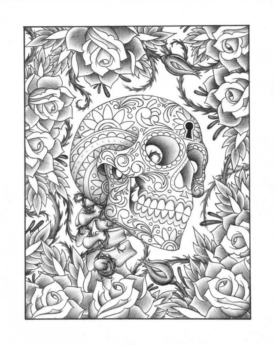 Get This Free Trippy Coloring Pages to Print for Adults IHT62 !