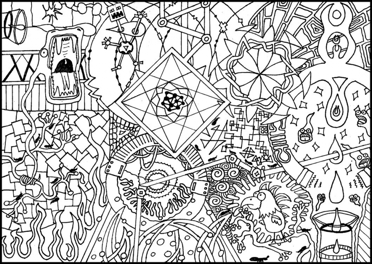 Get This Free Trippy Coloring Pages to Print for Adults pk2v4