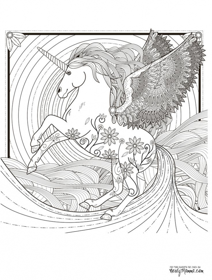 Get This Free Unicorn Coloring Pages For Adults FZ759