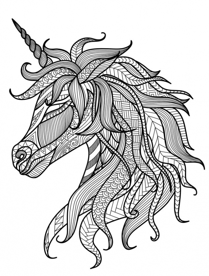 Get This Free Unicorn Coloring Pages for Adults TV738