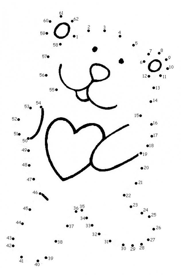 Get this free valentine dot to dot coloring pages n1tdn for Valentine connect the dots coloring pages