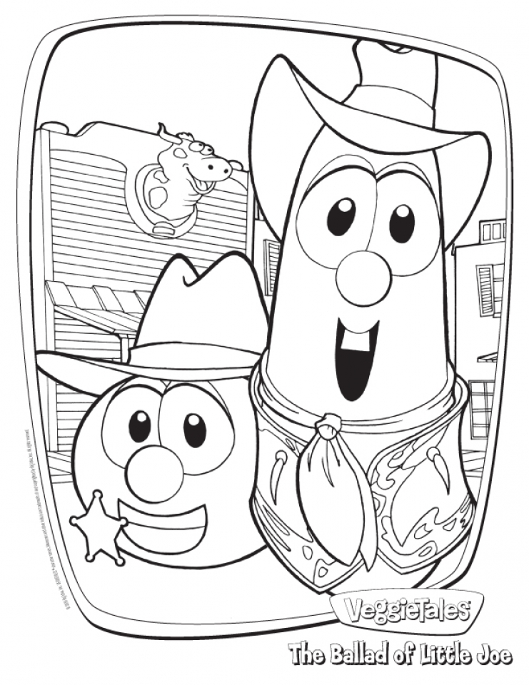 20 Free Printable Veggie Tales Coloring Pages Everfreecoloring Com