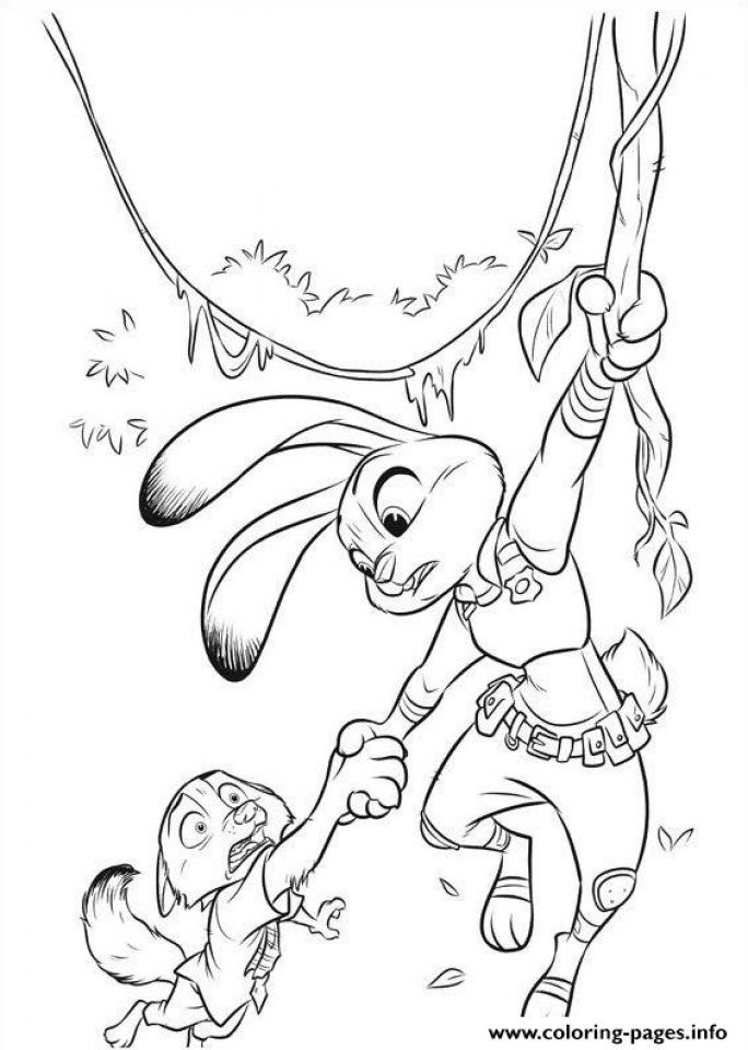 Get This Free Zootopia Coloring Pages to Print 194523