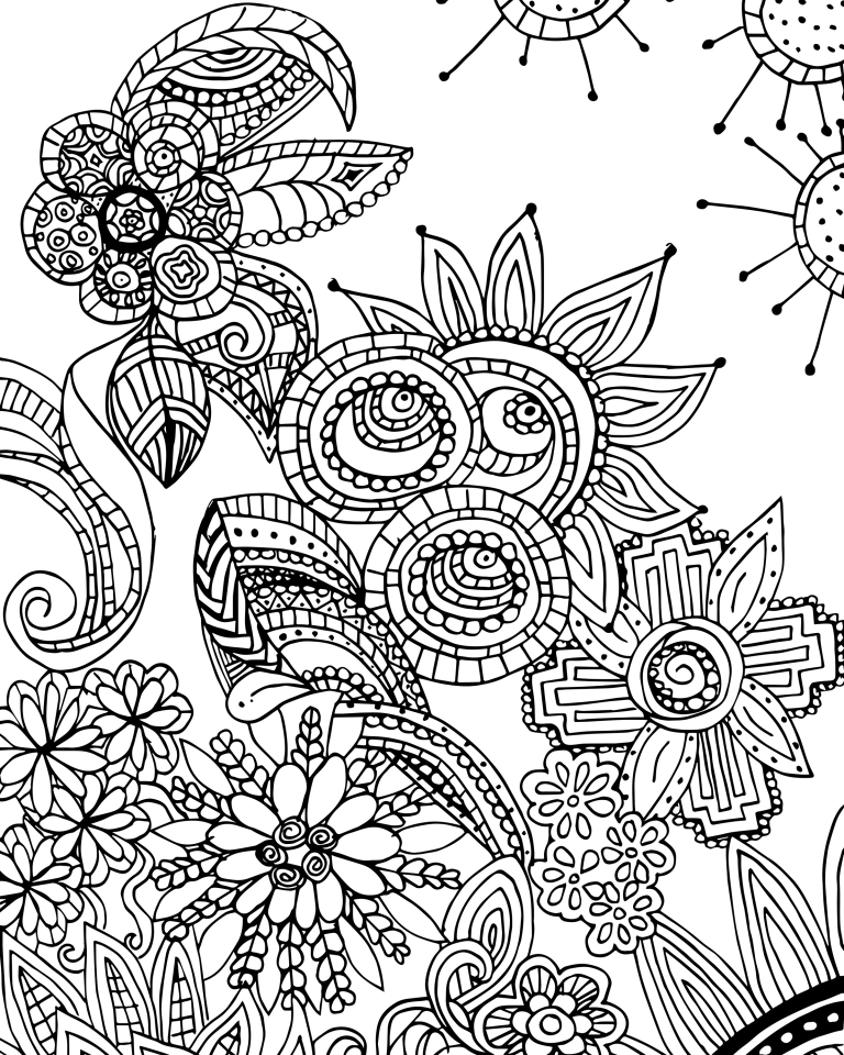Get This Fun Doodle Art Adult Coloring