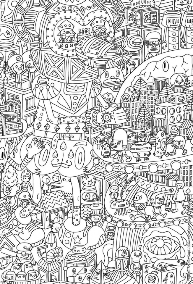 Get This Fun Doodle Art Adult Coloring Pages Printable 93vh2