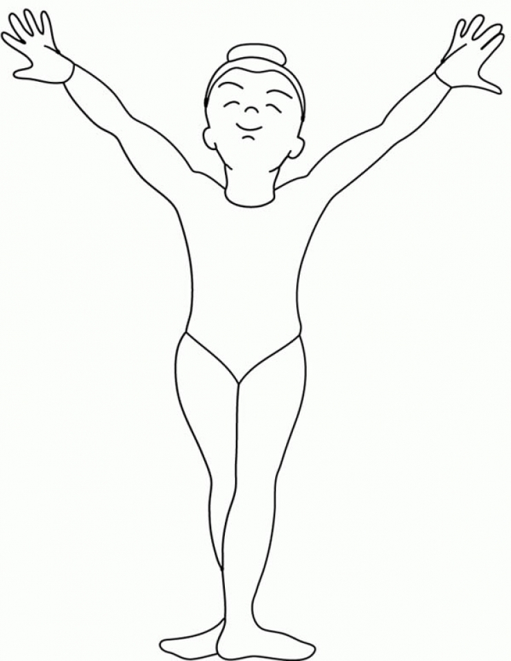 gymnastics coloring pages free printable fyo101 - Gymnastics Coloring Pages