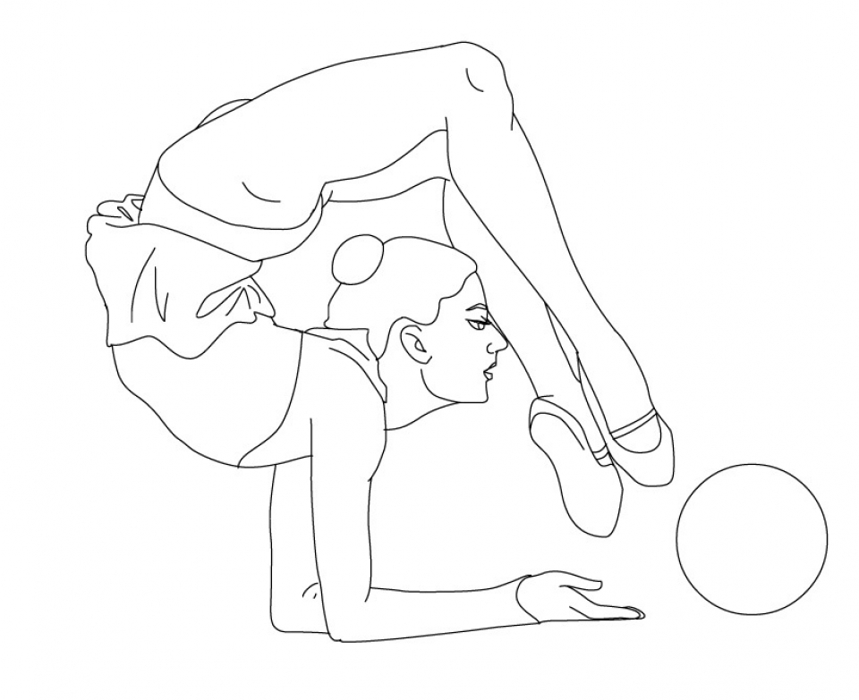 Gymnastics Coloring Pages Free Printable P3frm