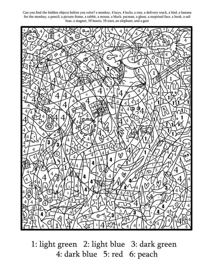 hard to color coloring pages - get this hard color by number pages for adults pk73l