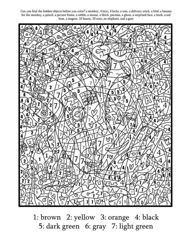 Get This Hard Color By Number Pages For Adults Uc51h Color By Number Coloring Pages For Adults