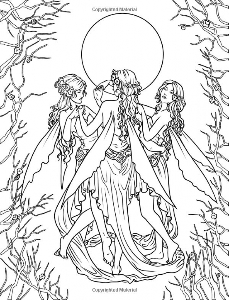 Get This Hard Elf Coloring Pages for Adults 88630