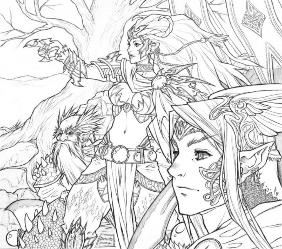 Get This Hard Elf Coloring Pages for Adults 995239 !