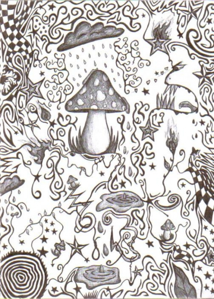 Get This Hard Trippy Coloring Pages Free for Adults XJ5S8