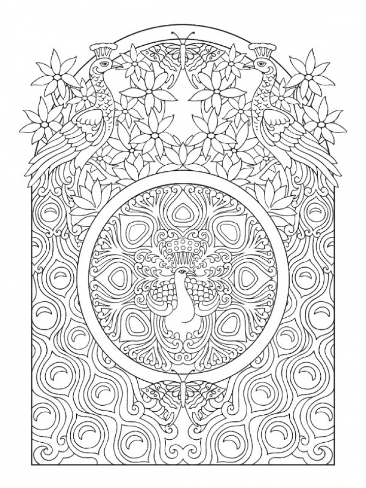 Colour Line Art Design : Get this online art deco patterns coloring pages for