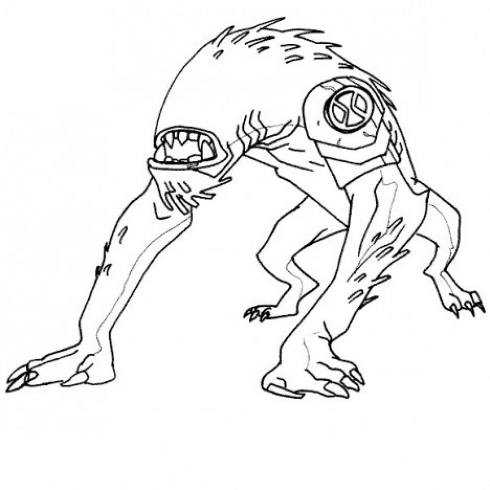 Ben 10 free coloring pages for Coloring pages of ben 10 aliens