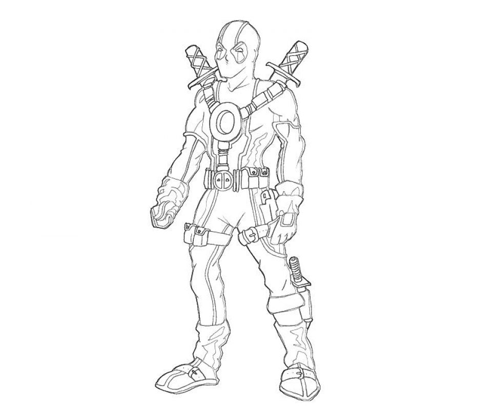 Perfect Online Deadpool Coloring Pages 357852