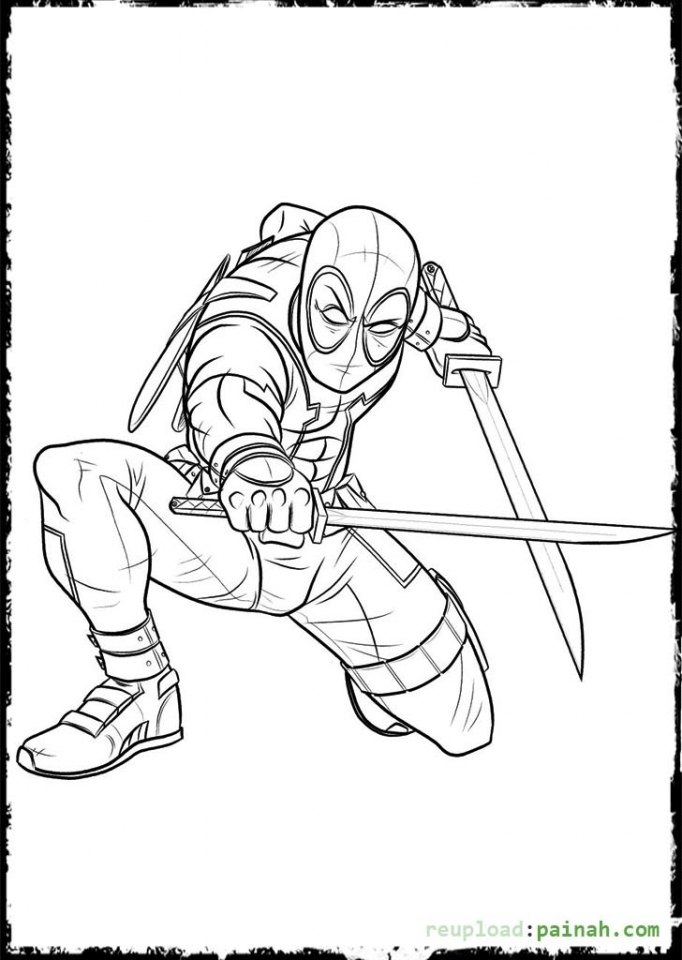 Get This Online Deadpool Coloring Pages 476857