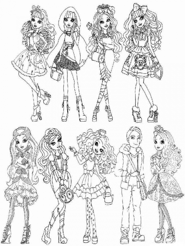 Ever After High Halloween Coloring Pages Get This Online Ever After High Coloring Pages 28344