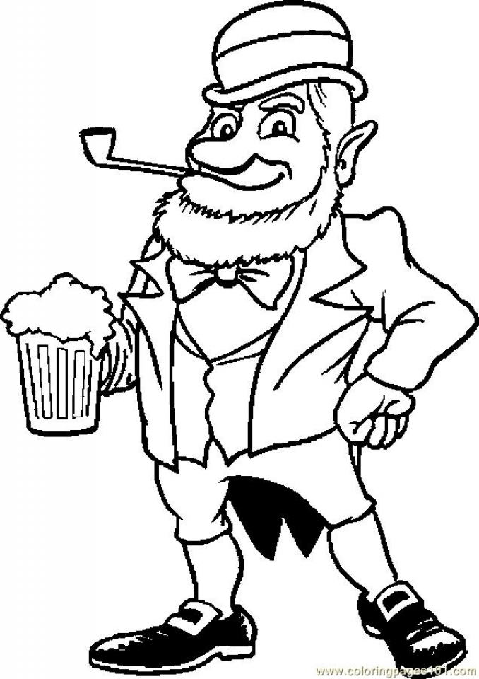 Get This Online Leprechaun Coloring