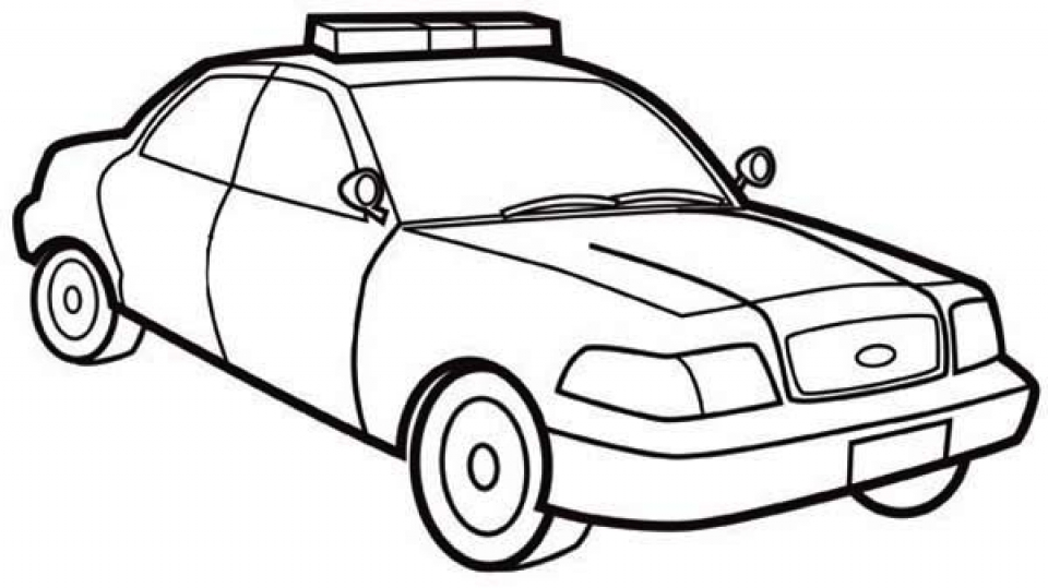 Police car coloring pages sketch coloring page for Police car coloring pages to print