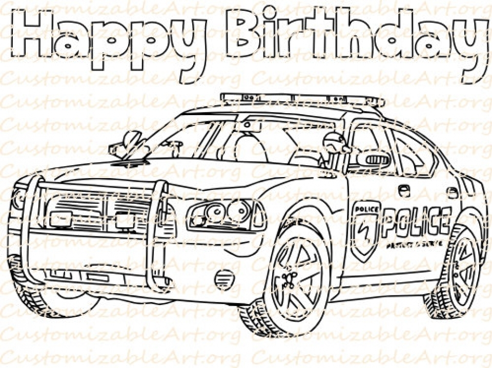 Christmas Coloring Pages Police Car Christmas Best Free