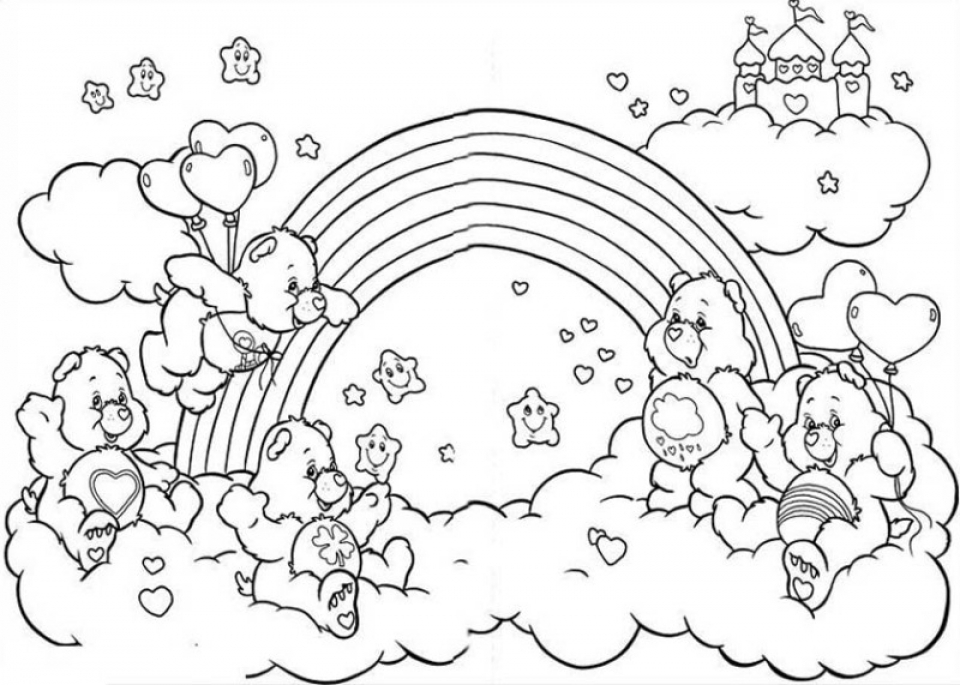coloring page of a rainbow - get this online rainbow coloring pages jzj9z